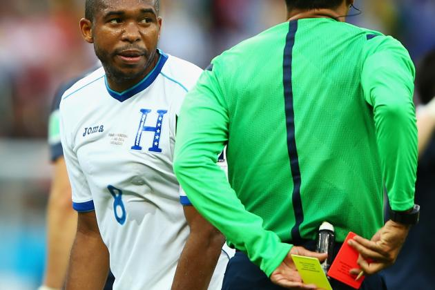 Wilson Palacios and the 13 Earliest Red Cards Since FIFA 2006 World Cup
