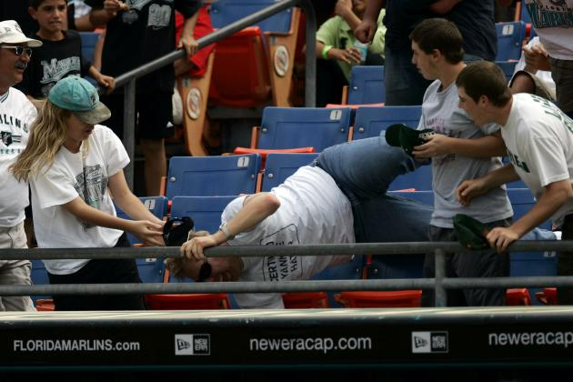 Fans Trying to Kill Each Other for Souvenirs