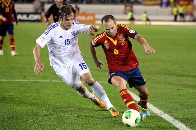 Barcelona Midfielder Andres Iniesta's Top 6 Spain Moments
