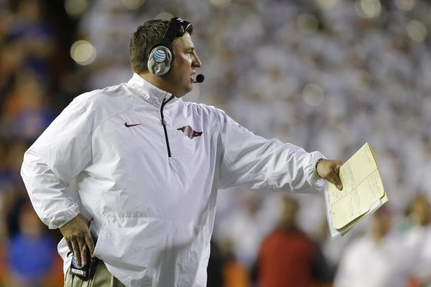 Arkansas Football: Bielema's 3 Biggest Challenges for Razorbacks in 2014