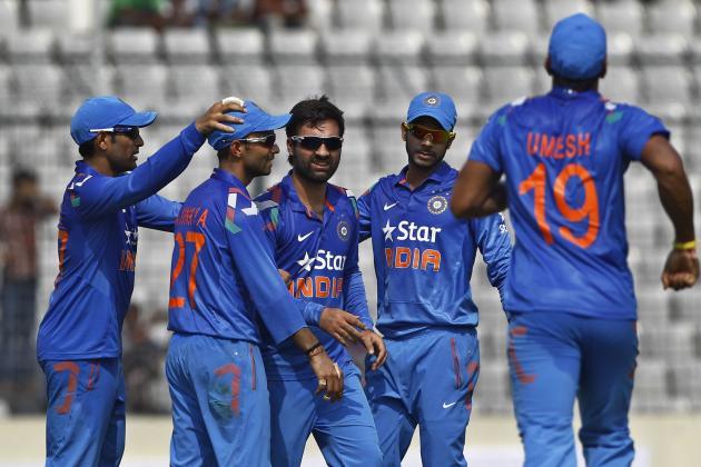 Bangladesh vs. India 2014 ODI Series: India Player Ratings