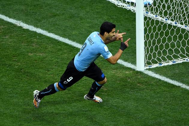 World Cup 2014: Best XI of Day 8 with Luis Suarez, James Rodriguez and Aurier
