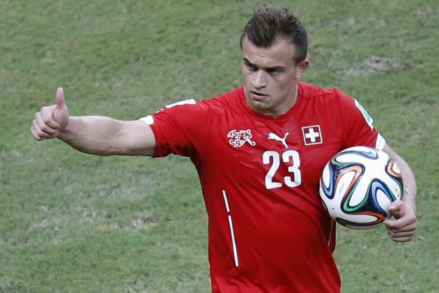 World Cup 2014: Best XI of Day 14 with Xherdan Shaqiri, Lionel Messi and Musa