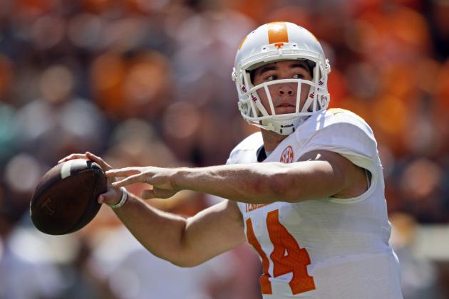 Tennessee Football: Over, Under Stat Projections for Justin Worley in 2014