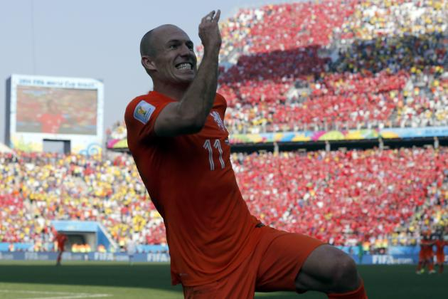 World Cup 2014: Best XI of Day 18 with Arjen Robben, Keylor Navas and More