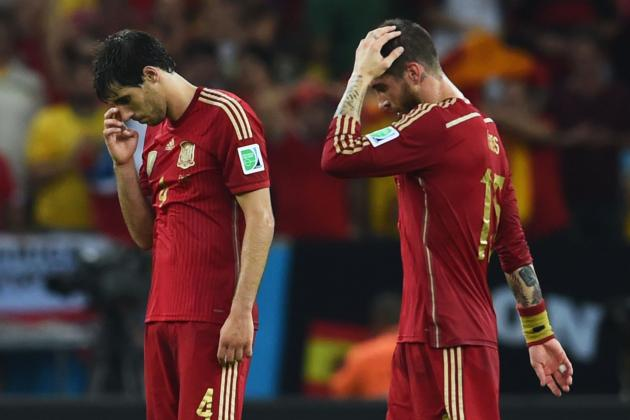 Where Does Spain's World Cup 2014 Campaign Rank in Their All-Time Performances?