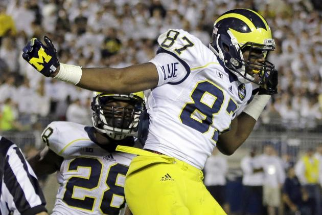 Michigan Football: Over, Under Stat Projections for Devin Funchess in 2014
