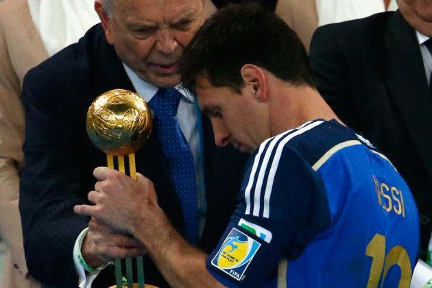 Power Ranking Lionel Messi and Previous World Cup Golden Ball Winners