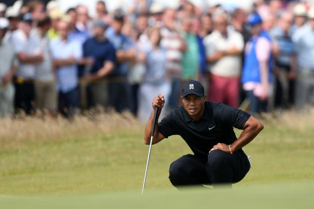 Tiger Woods at British Open 2014: Grading Day 2 Performance at Royal Liverpool