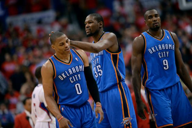 Early Predictions for OKC Thunder's Starting Lineup Next Season
