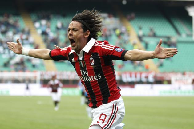 Ranking the Top 5 Moments from Filippo Inzaghi's Milan Playing Career