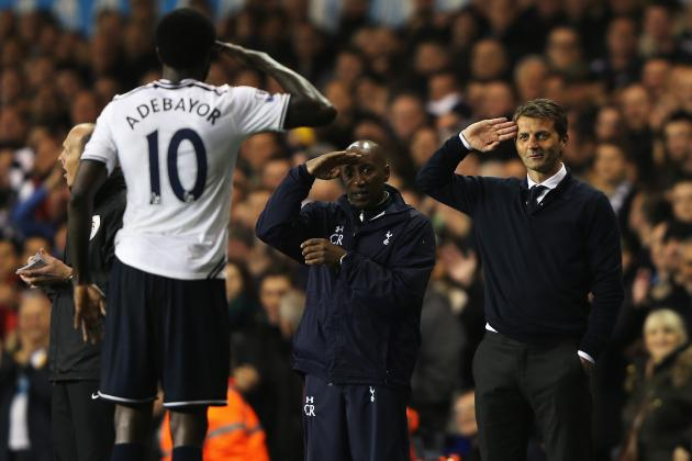 5 Things to Expect from Emmanuel Adebayor at Tottenham This Season