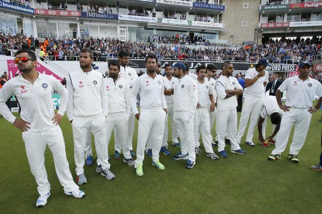 England vs. India: Player Ratings for MS Dhoni's XI After 5th Test