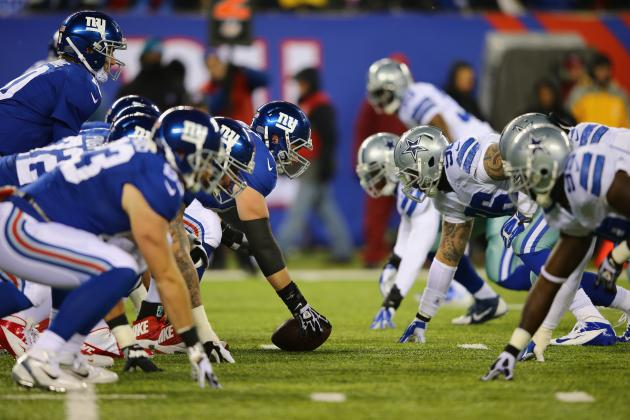 The Giants offensive line will need to show vast improvement against Dallas this weekend