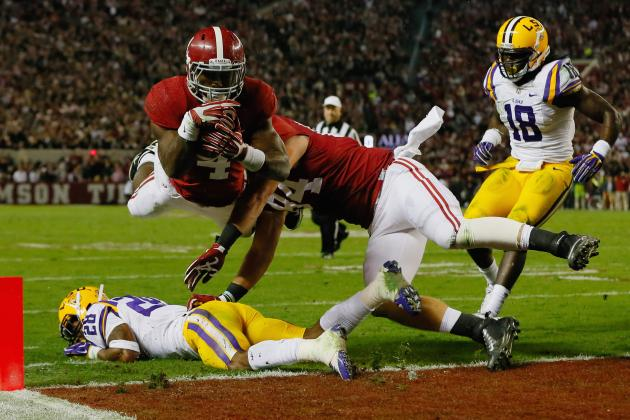 No. 5 Alabama at No. 16 LSU