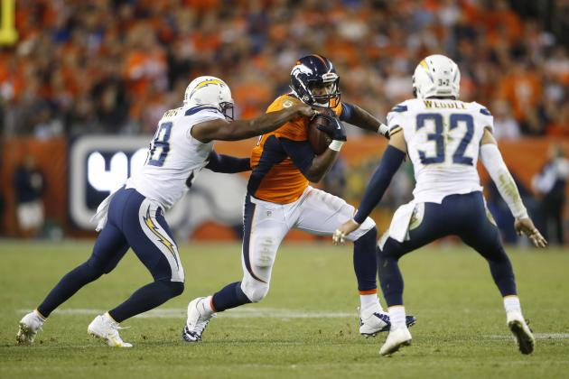 Glauser Pick No. 3: Denver Broncos (-4) over San Diego Chargers