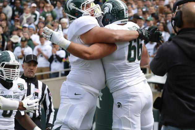 16. Michigan State Offensive Line