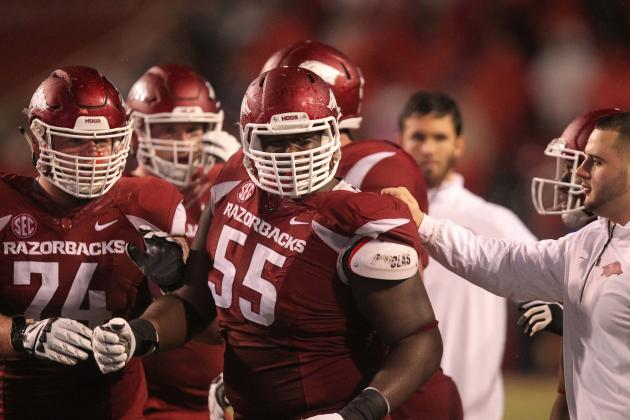 8. Arkansas Offensive Line