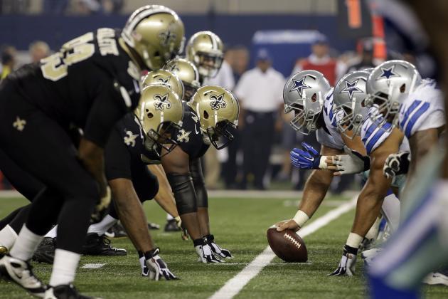 Wholesale NFL Jerseys cheap - Dallas Cowboys vs. New Orleans Saints: Full New Orleans Game ...