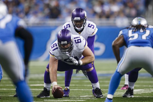 nfl Minnesota Vikings Joe Berger GAME Jerseys