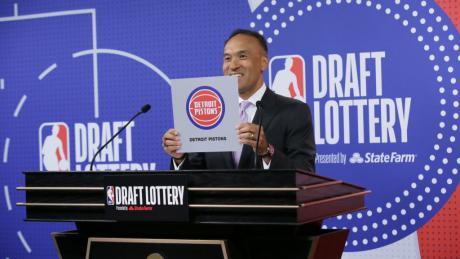 Detroit Pistons win NBA draft lottery