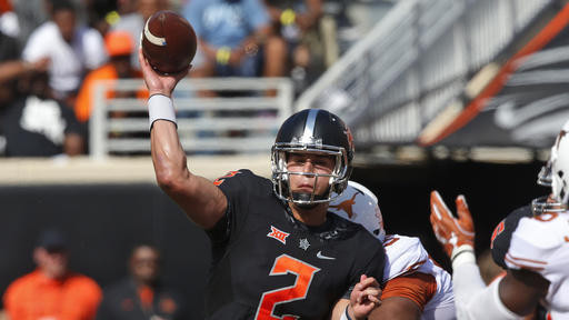 0db34afe2e6 Watch as Oklahoma State QB Mason Rudolph connect with James Washington for  a 58 yard TD