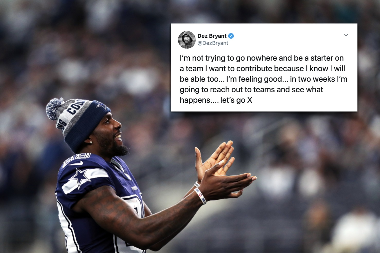 Ex Cowboys Wr Dez Bryant Eyeing Nfl Return Plans To Contact