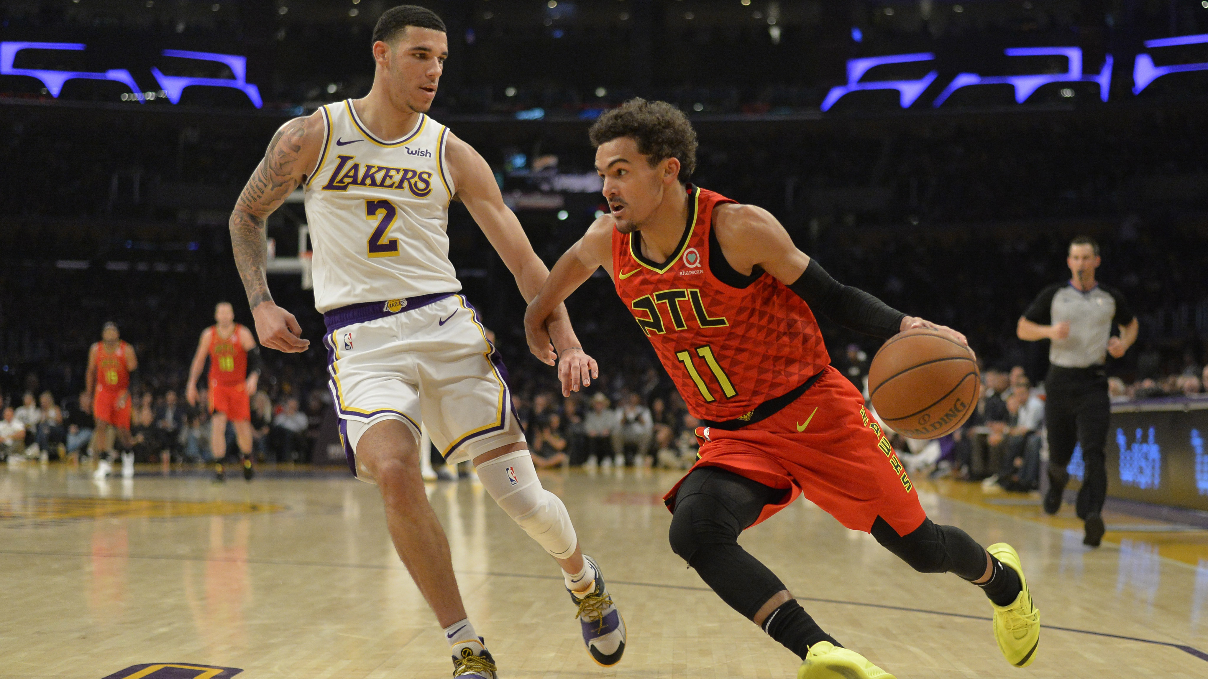 Image result for lonzo ball trae young