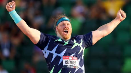 Shot-putter sets world record at U.S. Olympic trials