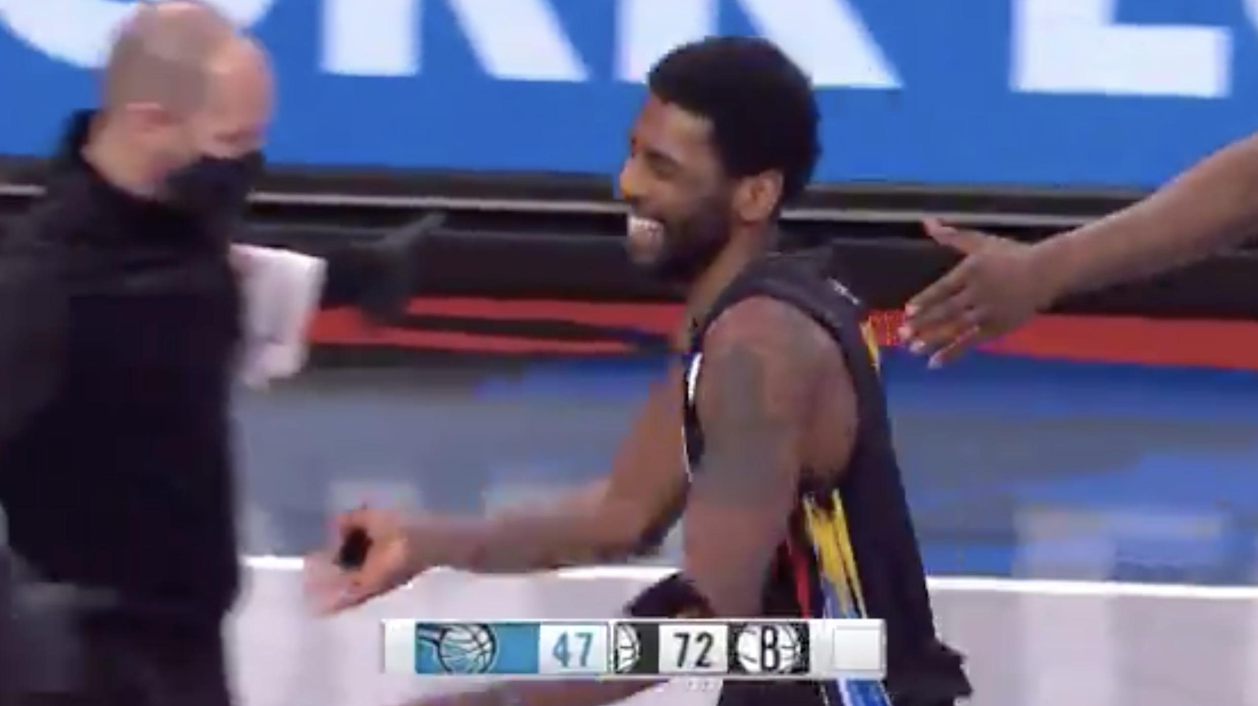 Nets Clown Kyrie's Dunk 🤣