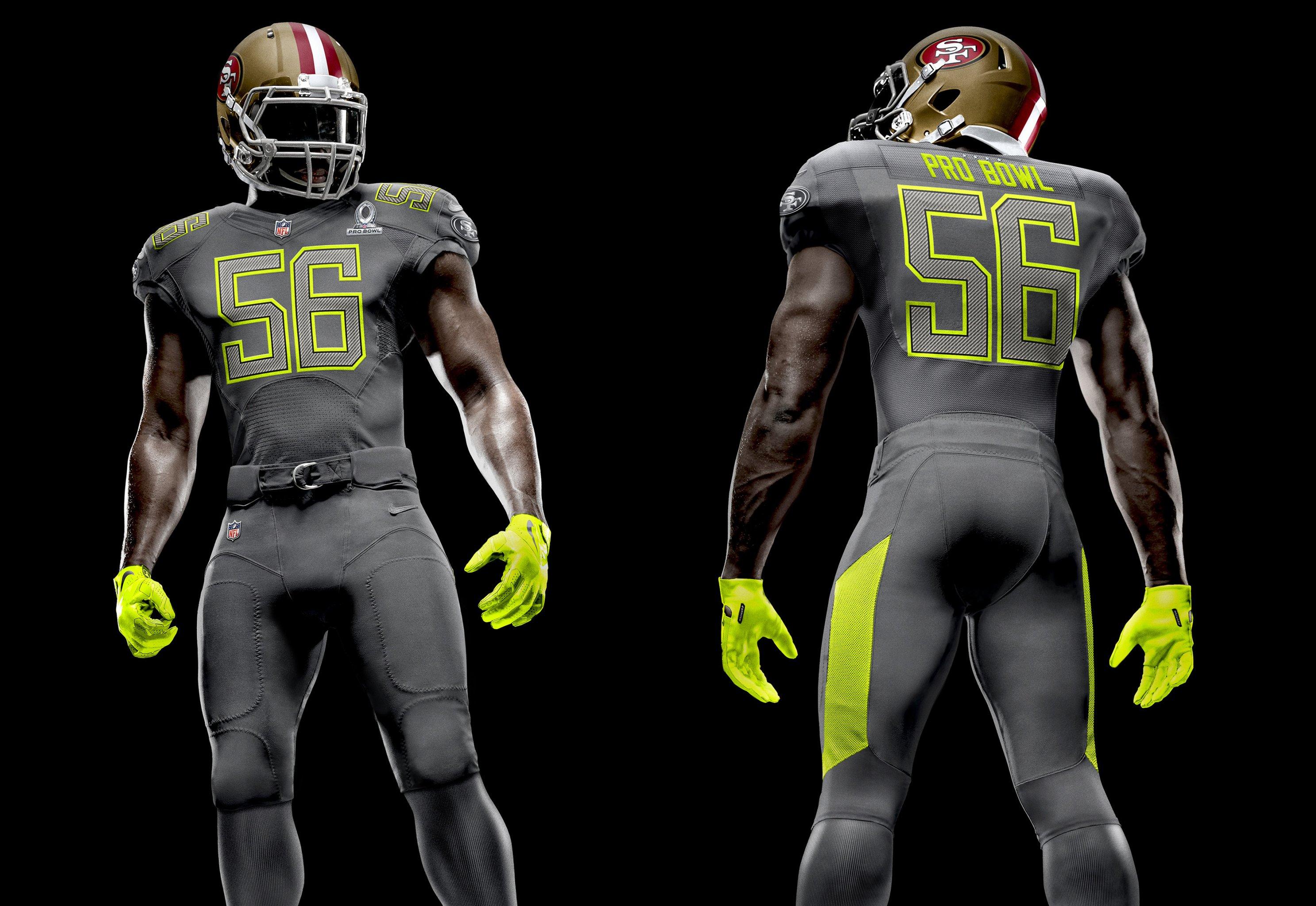 big sale 87620 ca26f NFL Nike Elite 51 Uniforms Revealed for 2014 Pro Bowl ...