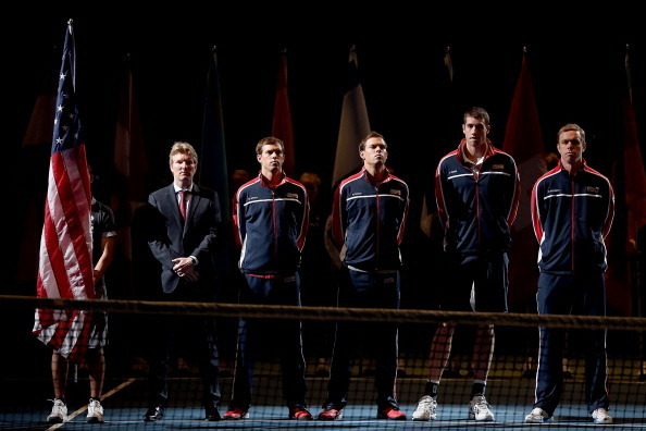 2013 U.S. Davis Cup team, without any American male ranked in Top 10.