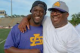 Leonard Fournette with his father, Leonard Sr.