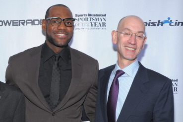 ba6201a91 Adam Silver  I ll Meet with LeBron and Kill Sleeved Jerseys If ...