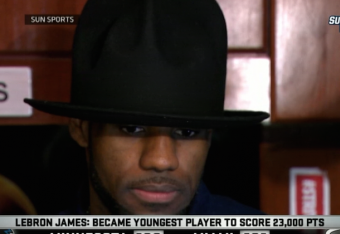 cf131b5e LeBron James Wears Pharrell's Signature Hat After Loss to Timberwolves |  Bleacher Report | Latest News, Videos and Highlights