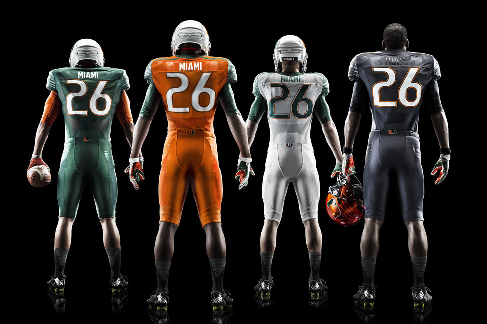 premium selection 57618 aebea Miami Hurricanes Unveil New Nike Football Uniforms ...