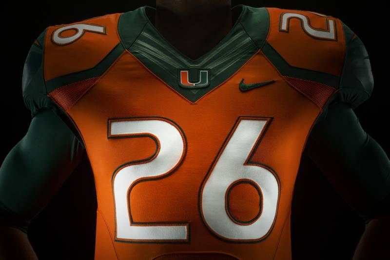 ad539f0dc Miami Hurricanes Unveil New Nike Football Uniforms