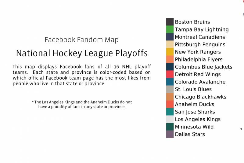 Facebook Fandom Map for NHL Playoffs | Bleacher Report