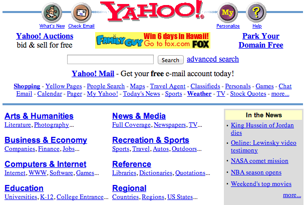 What the Internet Looked Like the Year Tim Duncan Won His