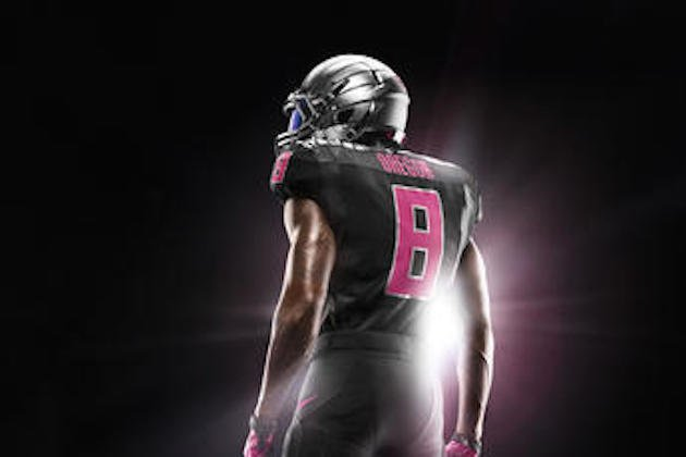 new style dab5f 450bc Oregon Unveils New Pink Uniforms That Support Breast Cancer ...