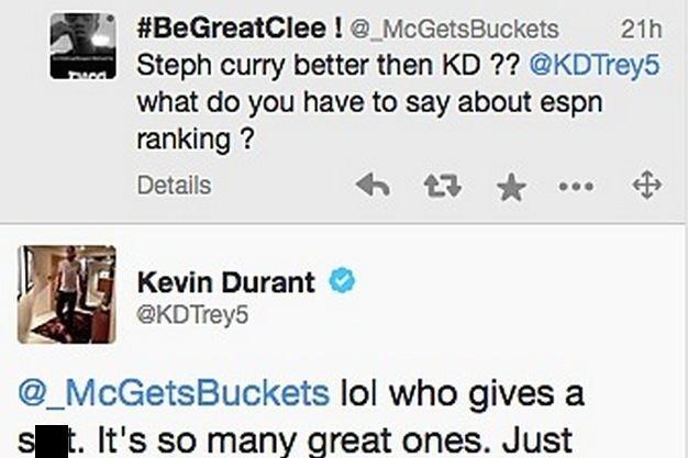 b12a50a7b960 Kevin Durant Responds to ESPN Ranking Him as the NBA s No. 8 Player ...