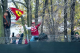Tifosi climbing the fence at Fiorano to see Vettel's first Ferrari test.