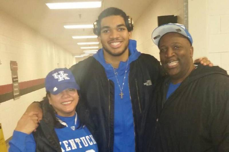 Picture of Karl-Anthony  Towns Parents, called Karl, Jacqueline