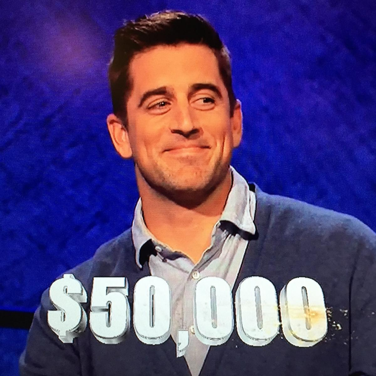 Aaron Rodgers Takes 1st Place On 'Celebrity Jeopardy