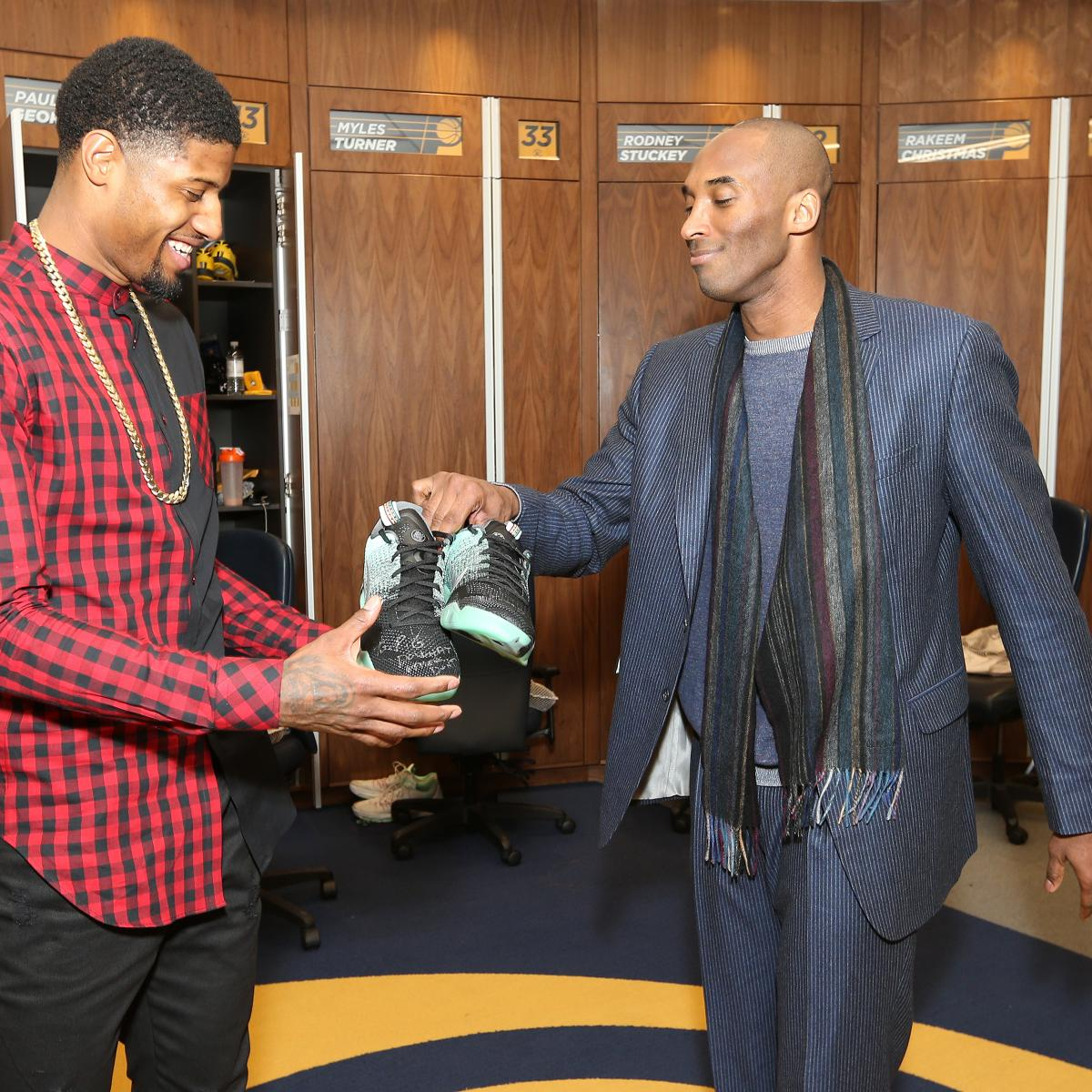 4178731a33a Kobe Bryant Gifts Paul George Pair of Shoes After Pacers Edge Lakers ...
