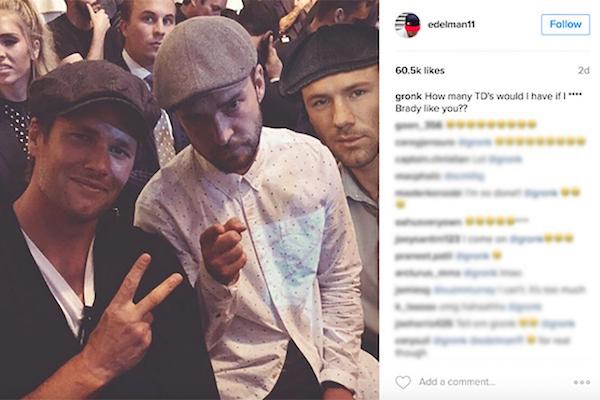 Rob Gronkowski Trolls Teammates Julian Edelman and Tom Brady