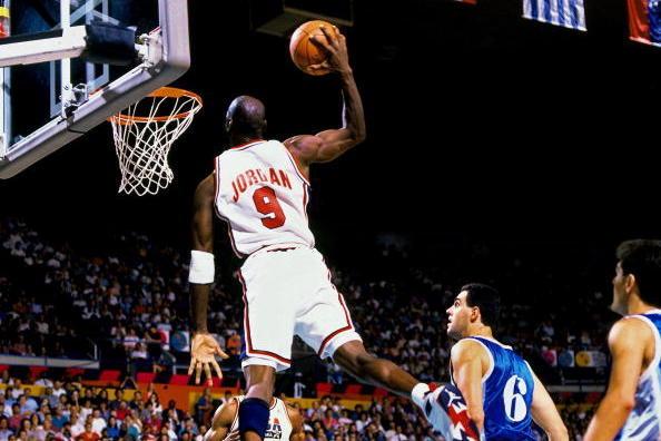 a4ad1ac36c5b9b BARCELONA - 1992  Michael Jordan  23 of the United States National Team  soars for