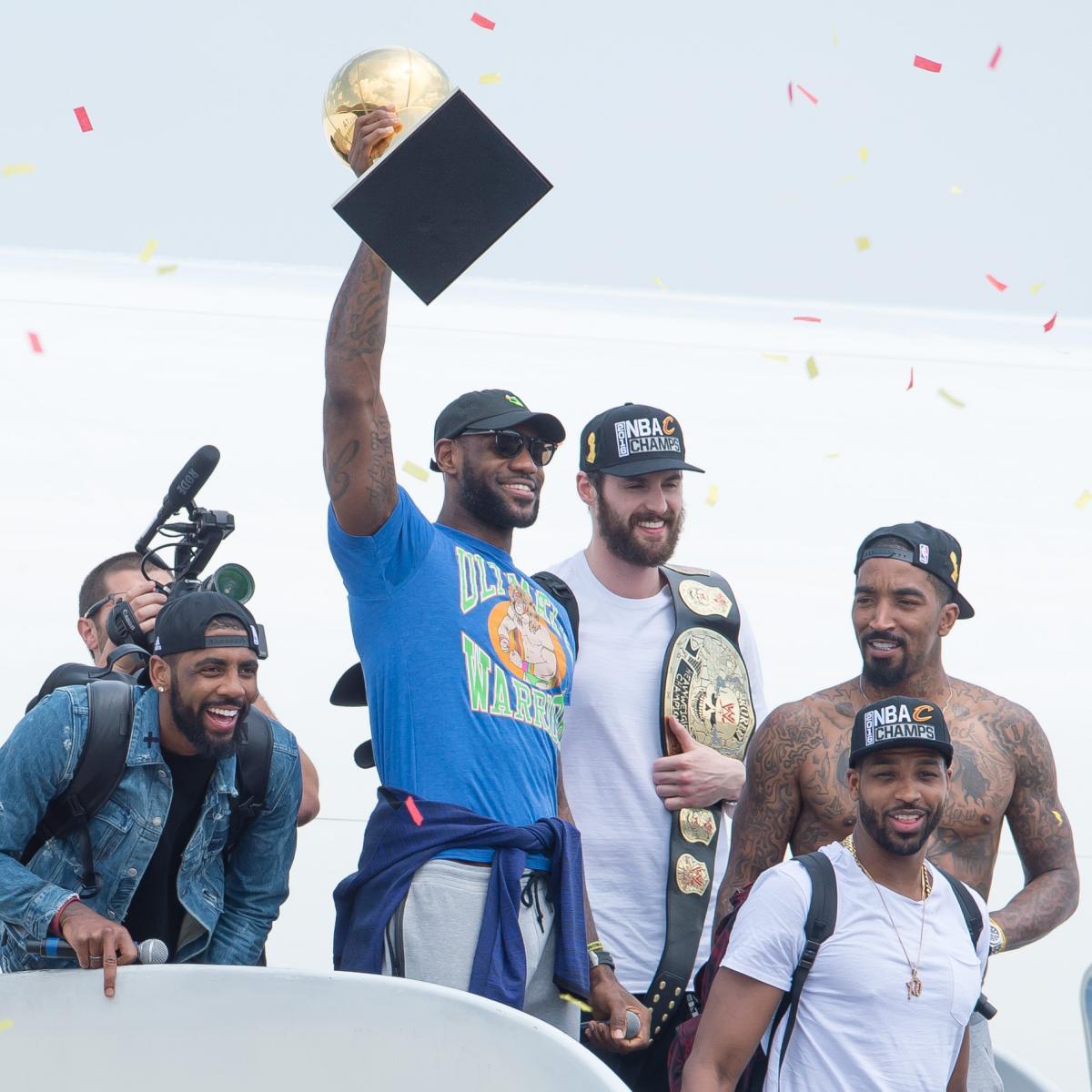 05328e716710 LeBron James Denies Wearing Ultimate Warrior Shirt as Slight to Golden State