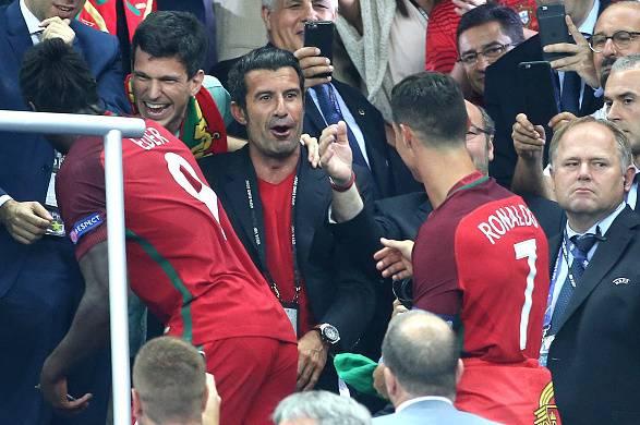 Image result for Luis Figo and Cristiano Ronaldo