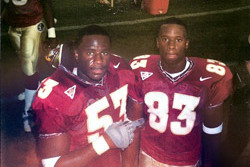 Devaughn and Devard Darling on the Florida State sideline, circa 2000.